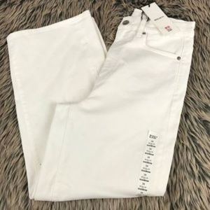 Uniqlo Jeans White Cropped Jeans Regular Fit Sz24